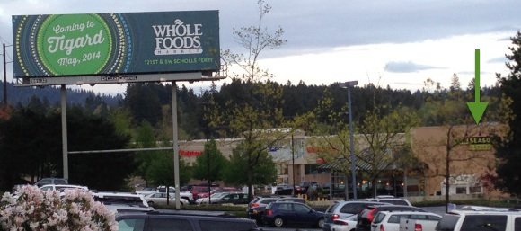 Whole Food Hardball Billboard