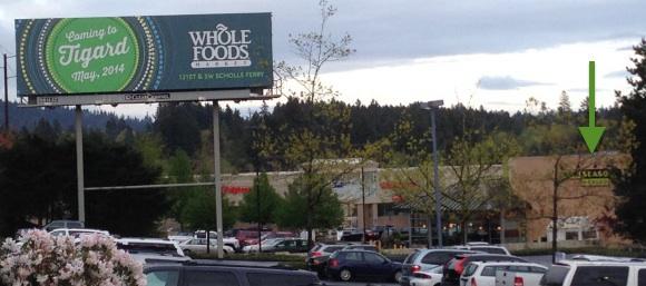 Whole Food Hardball Billboard